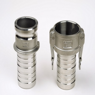 camlock fittings, camlock fittings with machined hose tail, camlcok fittings crimp